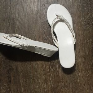 H&M White Sandals Size 7